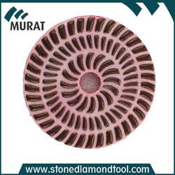 sunflower dry resin diamond polishing pads for granite, spiral diamond grinding pads