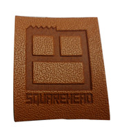 Custom embossed self adhesive leather patch