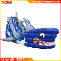 cheap 18ft Shark Tank Slide inflatable dry slide for sale