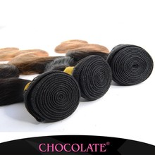 Top quality Chocolate Human Hair Extension Chocolate ombre black & Brown brazilian human hair sew in weave