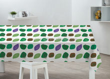 New printed peva tablecloth / round 180cm decorative plastic tablecloth with fabric back / vinyl ablecloth