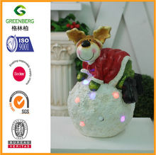 SPECIAL ORDER CHRISMAS DEER AT BALL WITH LED LIGHTS