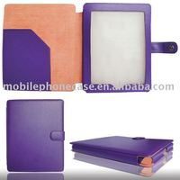 Simple design book case for iPad 2 with pocket and magnetic closure