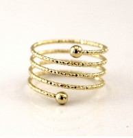 hot selling new arrival Decorative Swirl Ring,wire ring,brass spiral ring