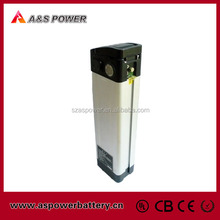 Rechargeable 36v 10ah electric bike li ion battery with charger and Alu case