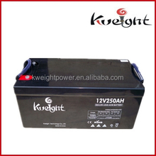 High quality Sealed VRLA gel battery 12V 250Ah Battery for Solar / UPS / Inverter / Wind Energy, etc