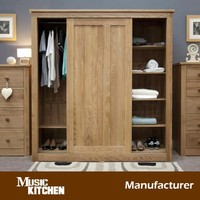 Popular design wood wardrobe with sliding door