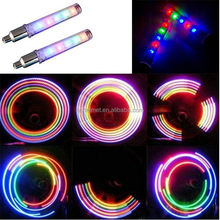 2015 RIGWARL Bike Bicycle LED spoke Lights Tyre Tire Valve Caps Wheel LED Light