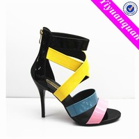 Turkish Shoes Wholesale Colorful Rainbow High Heel Sandals