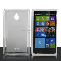 factory price TPU jelly soft mobile phone shell case cover for Nokia X2