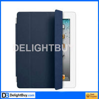 smart cover Coolest Protective Leather Cover for iPad 2/3 - Dark Blue