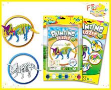 DIY toys 3D painting paper puzzle