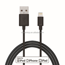 Wholesale best selling alibaba gold 8 pin usb charger sync data cable for iPhone 5 5c 5s Mini/iPad iOS7