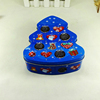 Gift cookie chocolate packaging metal Xmas tree tin container