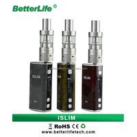 Bullvapor Small order is accept elektronik electronic cigarrette box mod 50W ISLIM fashion e cigarette