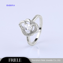 Best Qualtiy Gold Plating 925 Sterling Silver Rings With Cubic Zircon