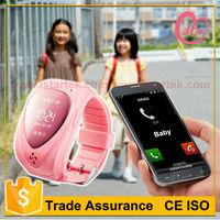 Portable 301 child gps tracking system smart phone kids gps watch tracker/bracelet