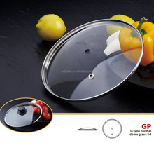 G type normal dome tempered cookware glass lid