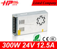 China Guangzhou factory supplier constant voltage single output 12.5a 24v 300w cctv power distribution box
