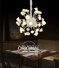 Modern style beautiful chandelier import led 64W/84W warm white pendant lamp acrylic hanging lighting