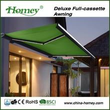 Top sale Homey aluminium frame tempered glass carport awning