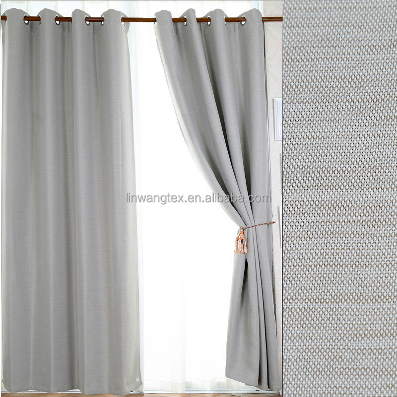 2014 New Style 100 Polyester Linen Like Embossed Hotel Blackout Curtain Buy Hotel Blackout