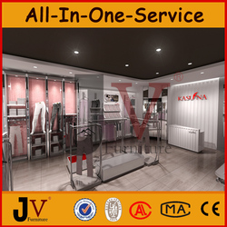 Hot sell ladies cloths store furnitures with unique clothing rack