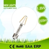 High cost performance clear glass or milky glass cover 110lm/w led filament bulbs e27