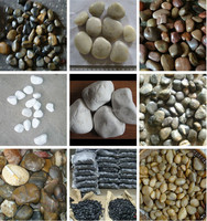 Good Quality colorful Pebble Garden river stone for garden pavement
