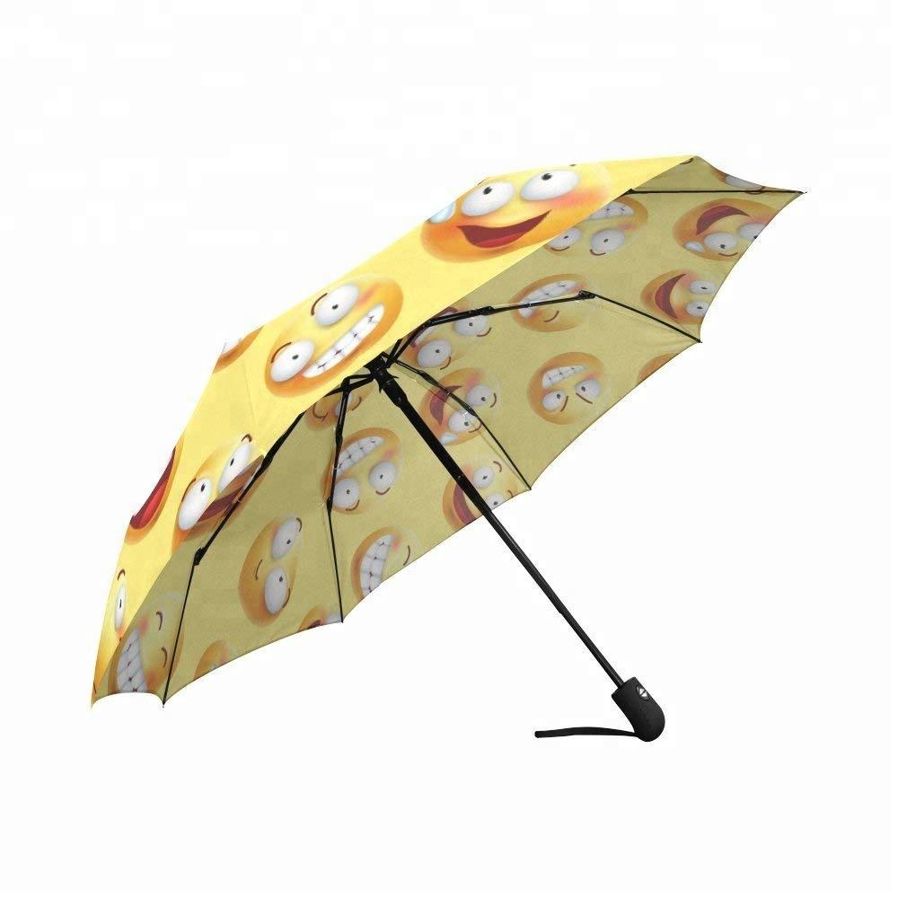 Yeni tasarım klasik güneş koruma üç kat bayanlar şemsiye