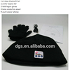 2015 New Fashional Wireless Bluetooth Knitted Winter Warm Beanie Hat Cap With Headphone + A Pair Of Touchable Warm Gloves