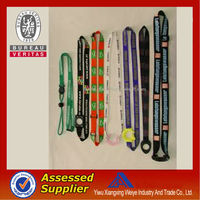 China Wholesale rainboe color silkscreen printing retractable bottle holder lanyard