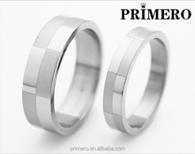 PRIMERO Foreign Jewelry Creative Male and female ring Couples Valentine's Day Gifts Genuine Classic plaid stainless steel ring