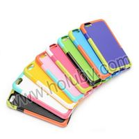 Colorful Durable Hollowed Three Color for iPhone6 TPU+PC Hybrid Back Cover Case for iPhone 6 4.7 inch