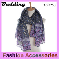 Customize Digital Printing High End fashion Scarves Shawls