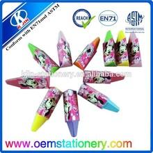 venta al por mayor de triángulo de dibujo lápices de cera para los niños