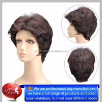 Short cut heat resistant kanekalon wigs for old ladies, bohyme hair wholesale