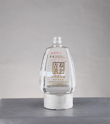 China supplier hot sale clear empty big whiskey bottle