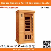one person portable cabinet ozone far infrared tourmaline sauna dry steam room for sale KN-001C