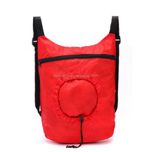 2015 High quality special design drawstring round pouch organza