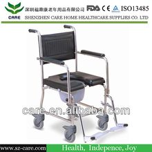 Stainless steel medical commode chair for handicapped