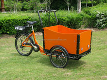 2015 hot sale NEW electric dutch cargo bike/ family tricycle bike/cargo tricycle for toddlers from Chinese factory