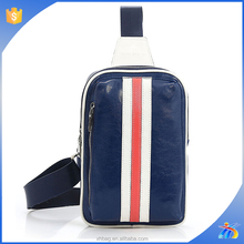 2015 new arrival fashion trendy unisex high quality PU leather chest bag with adjustable strap bag