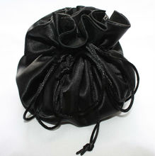 newest drawstring satin gift pouch for jewelry , custom satin travel bag