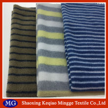 100% polyester stripe printed micro polar fleece fabric