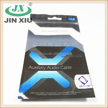3 side sealing anti humidity audio cable ziplock packaging bag