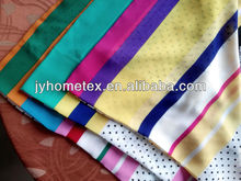 fashion style strips and dots picture printed thin soft smooth silk chiffon 100% polyester