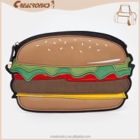 High reputation manufacture new arrival hamburger shape branded bags, handbags women, designer purse