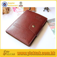 Embossing Loose Leaf Leather Diary