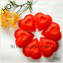 free sample tools heart 6holes Birthday Party Silicone cake molds Chocolate Baking star